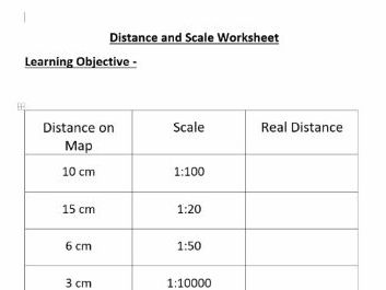distance and scales worksheet by seanalldread teaching resources. Black Bedroom Furniture Sets. Home Design Ideas