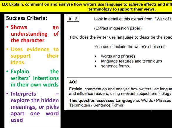 Language Analysis (Q2 AQA Eng. Lang. P1)