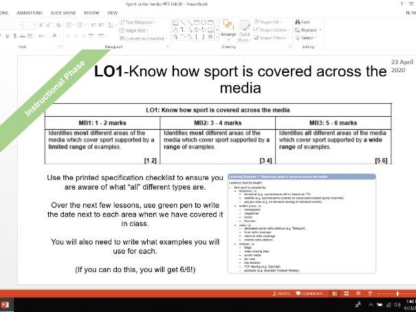 Sports Studies RO54 Sport in the media