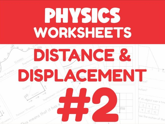 Distance & Displacement - Motion Worksheet #2 (Distance Learning Support)
