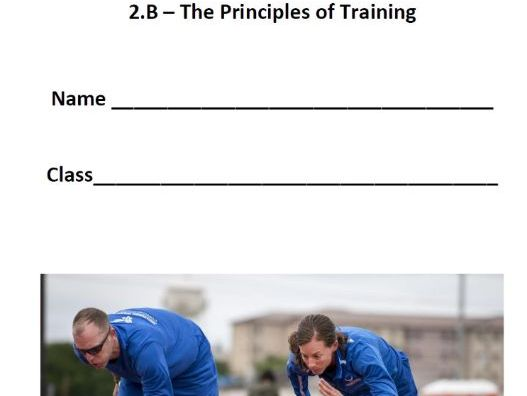 New 9-1 OCR GCSE PE. 2.B The Principles of Training. Pupil Workbook & Answer Booklet.