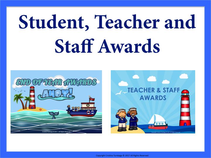 Student, Teacher and Staff Awards