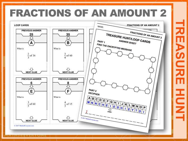 Fractions of an Amount 2 (Treasure Hunt)