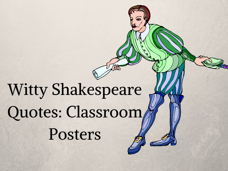 Witty Shakespeare Quotes Posters