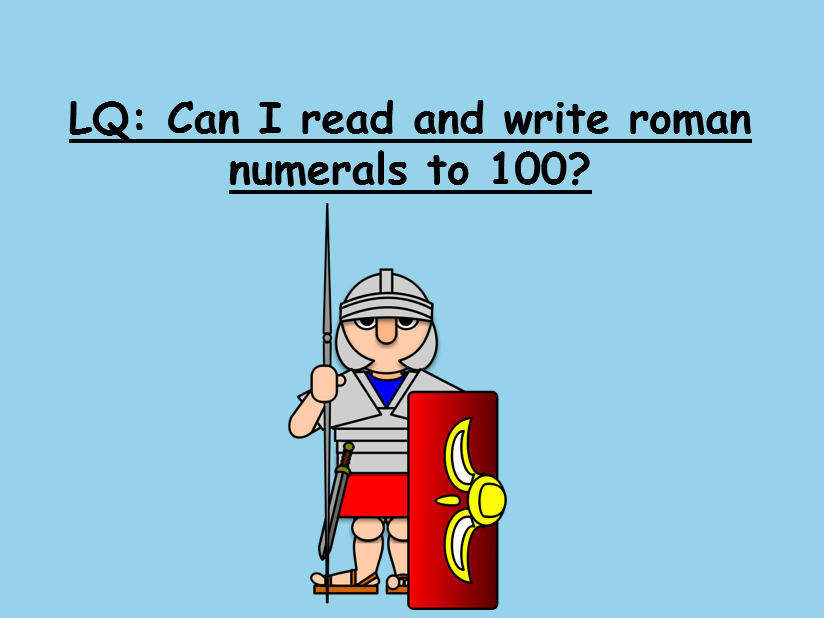 A super Roman numerals pp with fun activity!