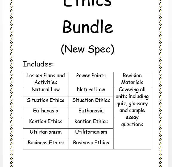 First Year Ethics New Spec Bundle