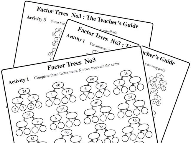Factor Trees  No3