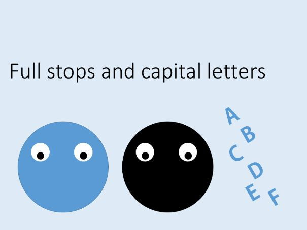 ks3 full stops and capital letters in english writing by