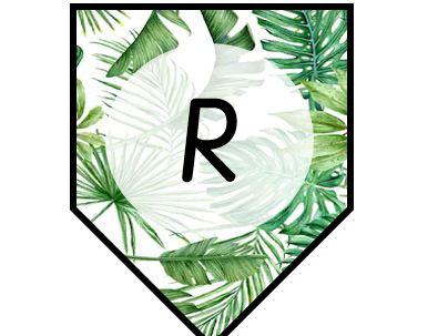 Reading bunting leaf themed