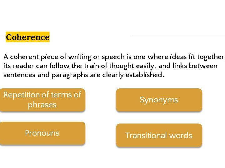 Grammar Lesson 27: Cohesive devices