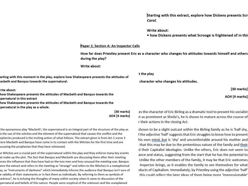 Grade 9 example essay bundle!