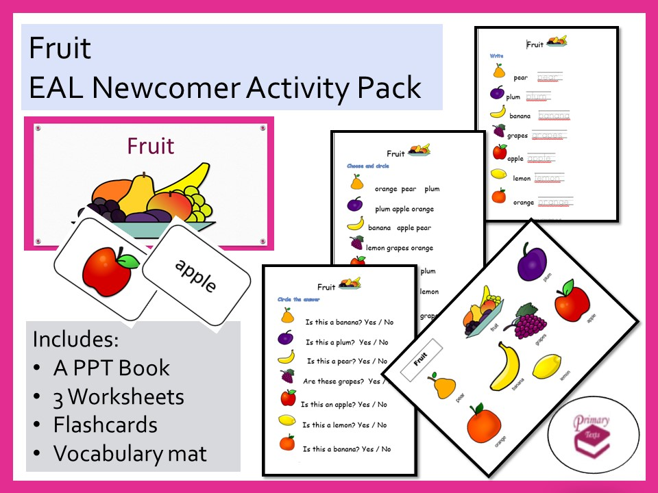 Fruit EAL Newcomer Activity Pack