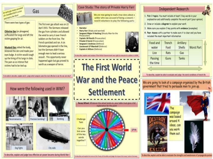 The First World War and the Peace Settlement 1914-1919