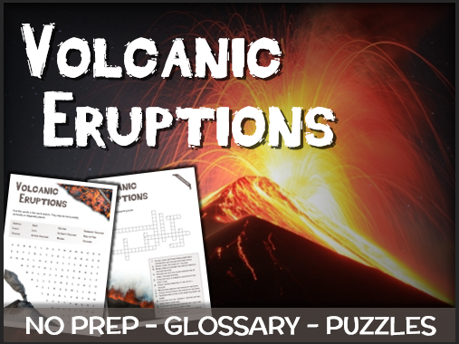 Volcanic Eruptions - Puzzles & Glossary