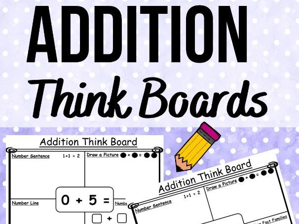 Addition Think Boards - Fact Familes