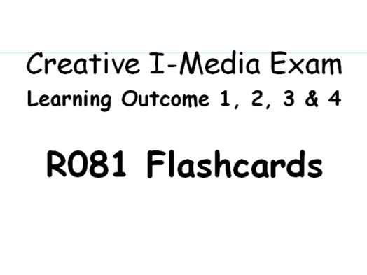 R081 - Creative I-Media - Flashcards