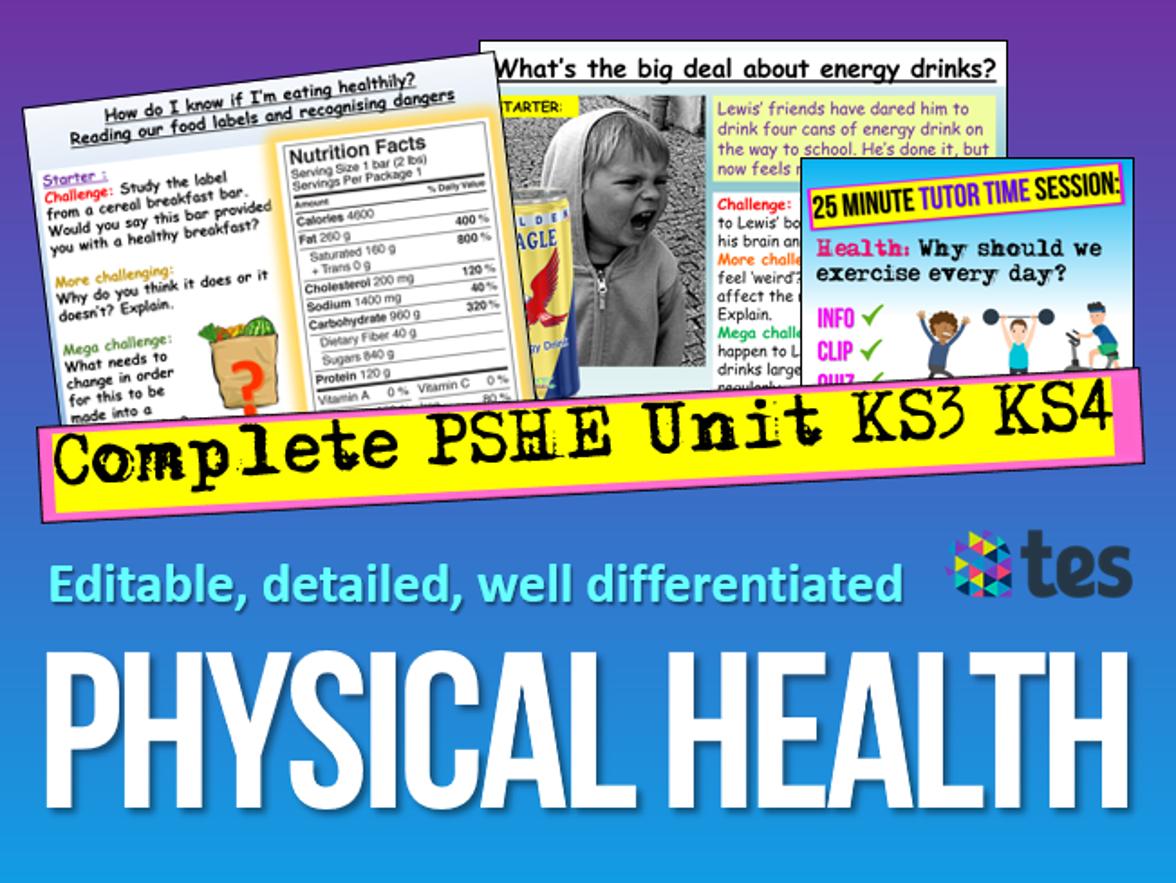 Physical Health PSHE