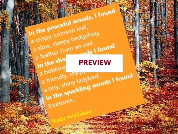 Woods Poem Example - Descriptive + Frame