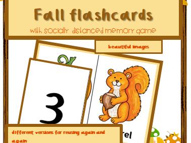 Autumn activity for infants ESL: flashcards