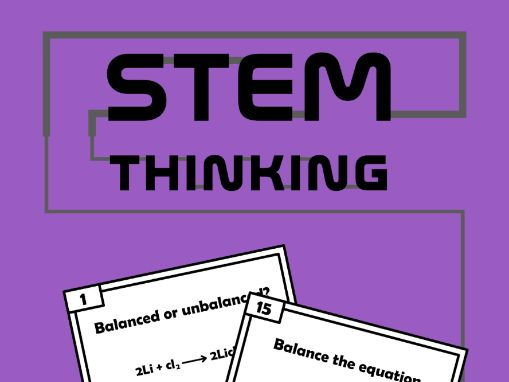 Balancing Chemical Equations Task Cards - Chemistry