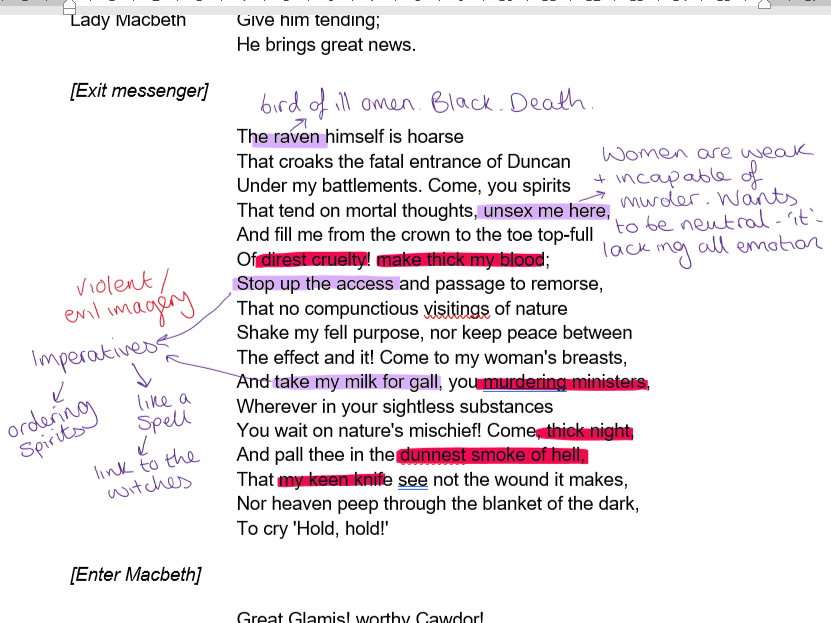 Macbeth Act 1 Annotations