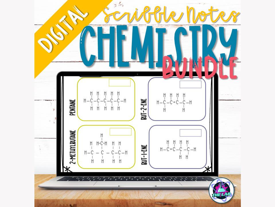 Digital Chemistry Scribble Notes Bundle