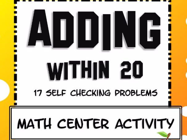 Adding within 20 Math Center