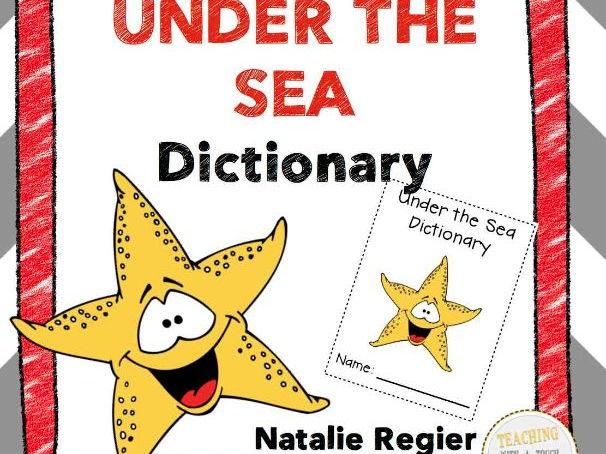 Under the Sea Vocabulary Templates FREEBIE!