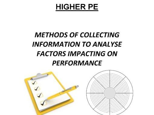 Higher PE Data Collection Revision Book