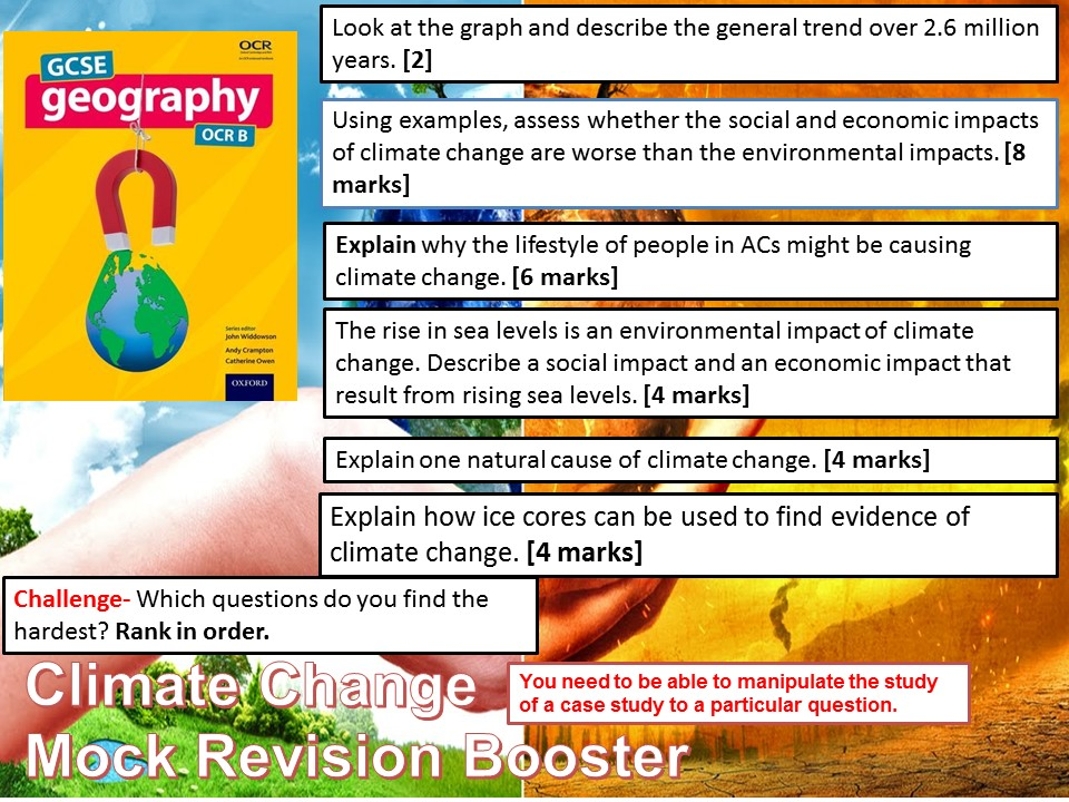 2017-2018 Year 11 OCR B Revision 17) Climate Change Booster WITH ANSWERS