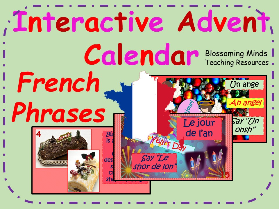 Interactive Advent Calendar - French Christmas Phrases