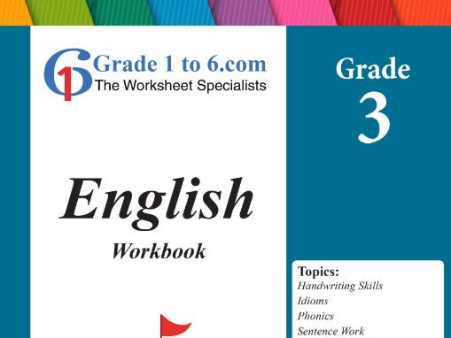 Grade 3 English Workbook/ Worksheets bundle from www.Grade1to6.com Books