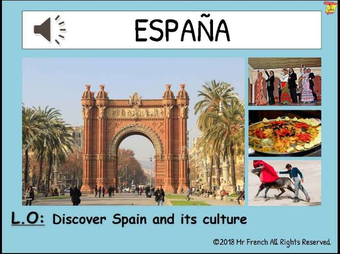 Introduction to Spain and its culture - 1 lesson! Y3/Y4/Y5/Y6 (2nd Grade-> 5th Grade)