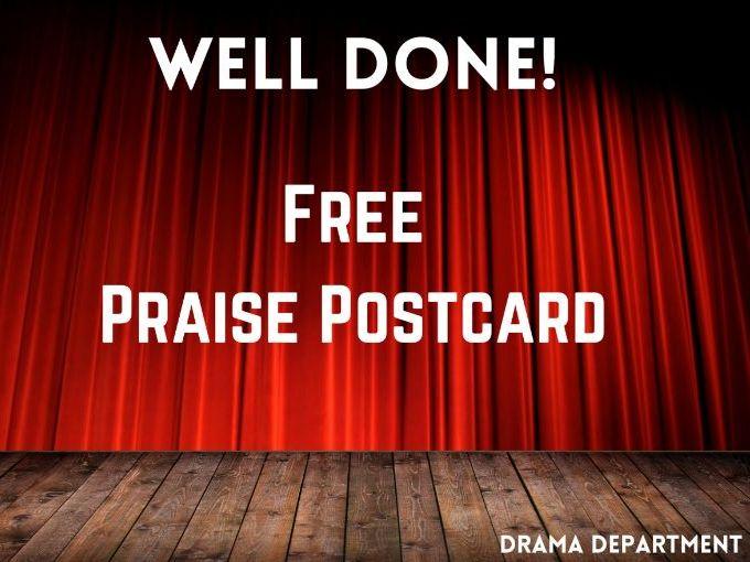 Drama Praise Postcard