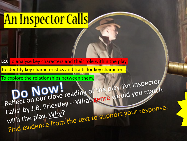 An Inspector Calls - Key Characters Lesson