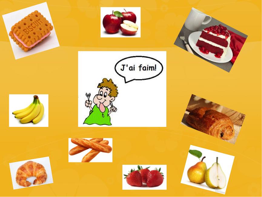 J'ai faim: I am hungry