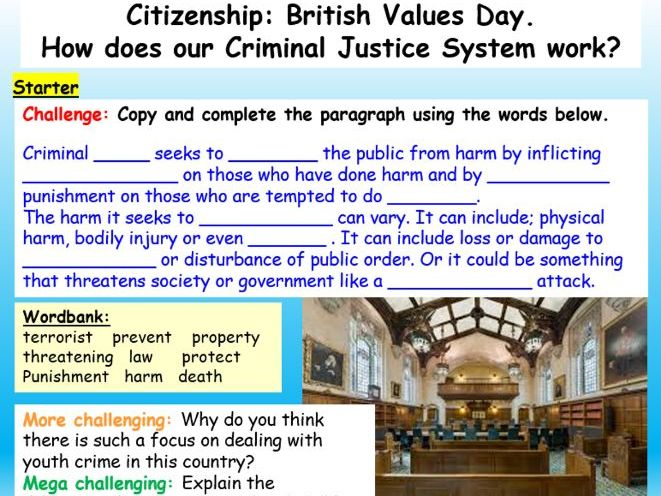 British Values : The Criminal Justice System