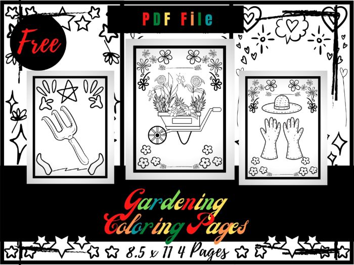 FREE Gardening Colouring Pages For kids, Flowers & Garden Colouring Sheets PDF