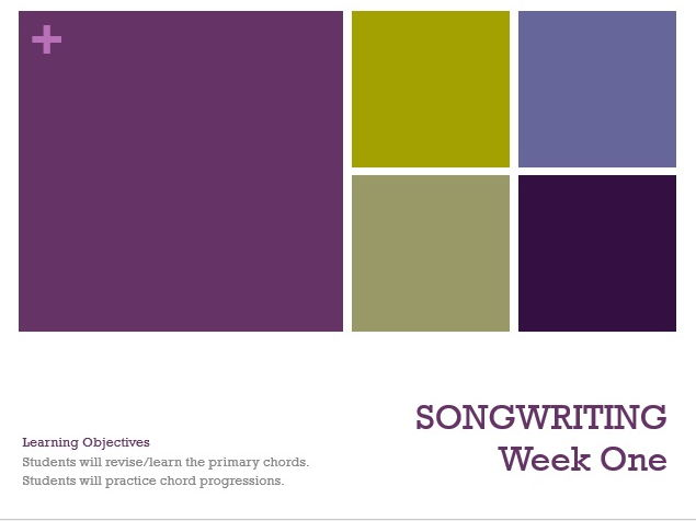Songwriting (KS3)
