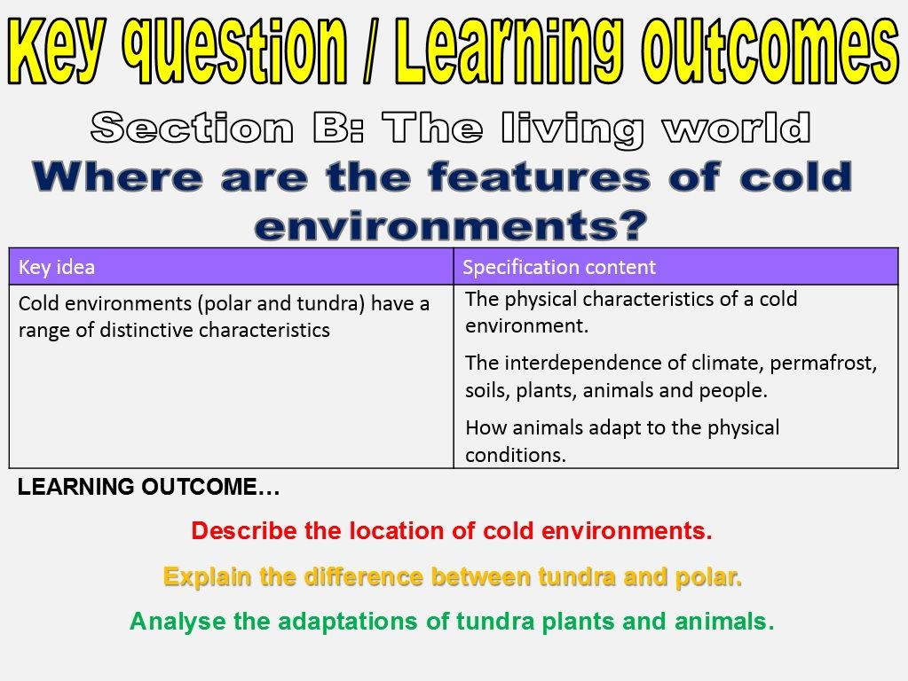 New AQA GCSE Cold Environments Full Unit