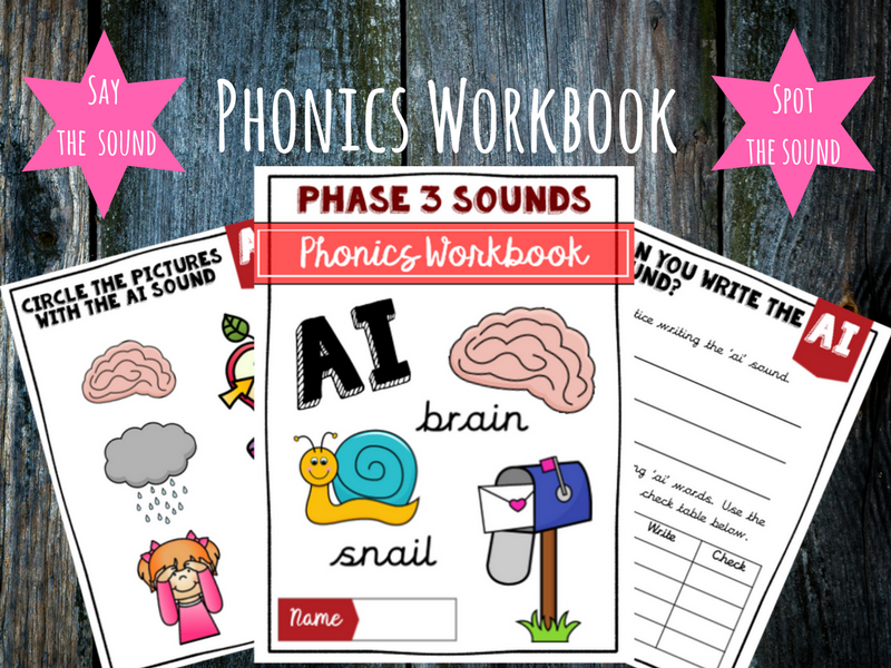 'Ai' Phonics Workbook