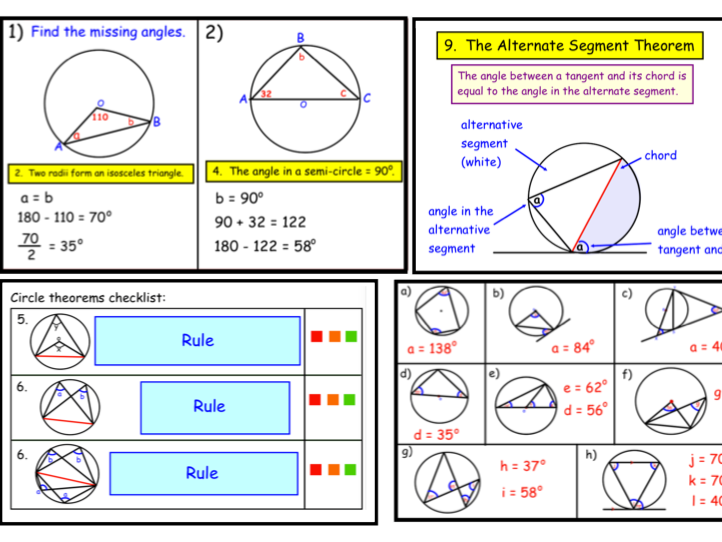 Circle Theorems (notebook)