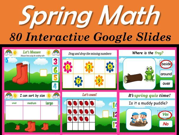 Spring Math Activities | Virtual | Distance Learning – 80 Google Slides