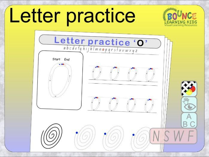 Letter writing practice using NSW Foundation font distance learning worksheets