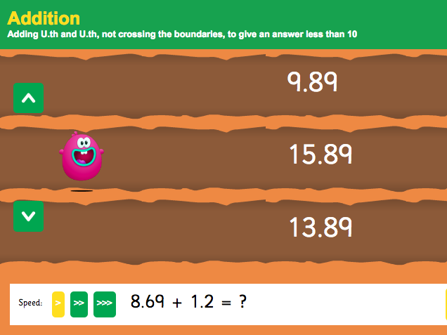 Addition with Decimals: Thousandths - Interactive Game 2 - KS2 Number