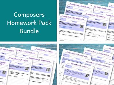 Composers Homework Pack Bundle