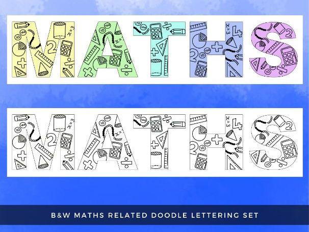 Maths Doodle Lettering Set