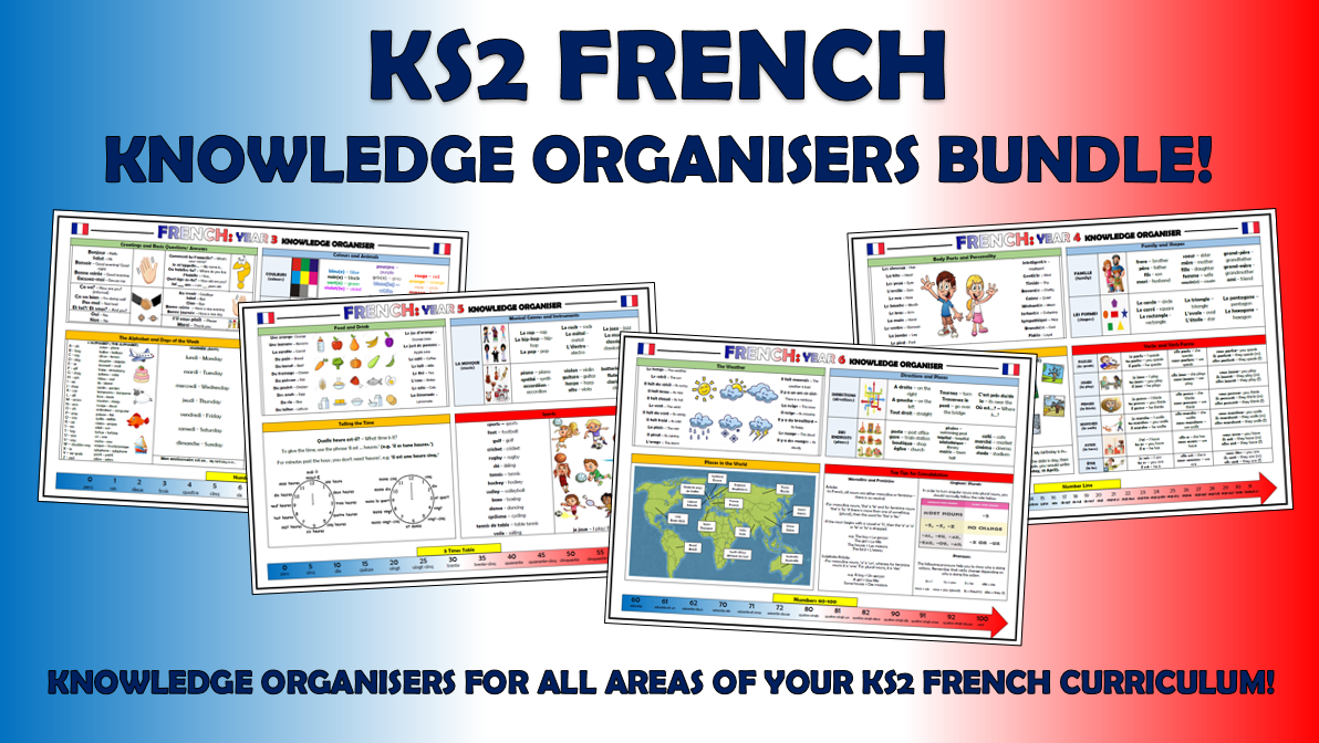 KS2 French Knowledge Organisers Bundle!