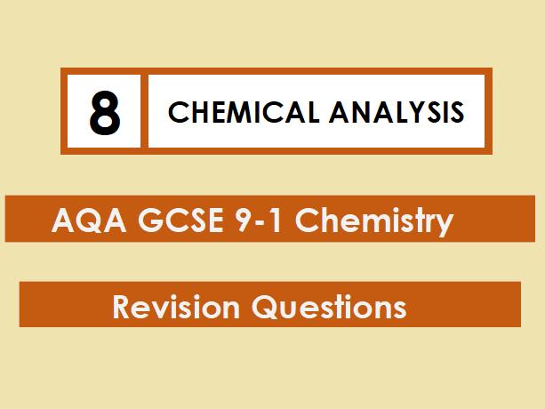 AQA Chemistry GCSE 9-1 Revision Mat: CHEMICAL ANALYSIS