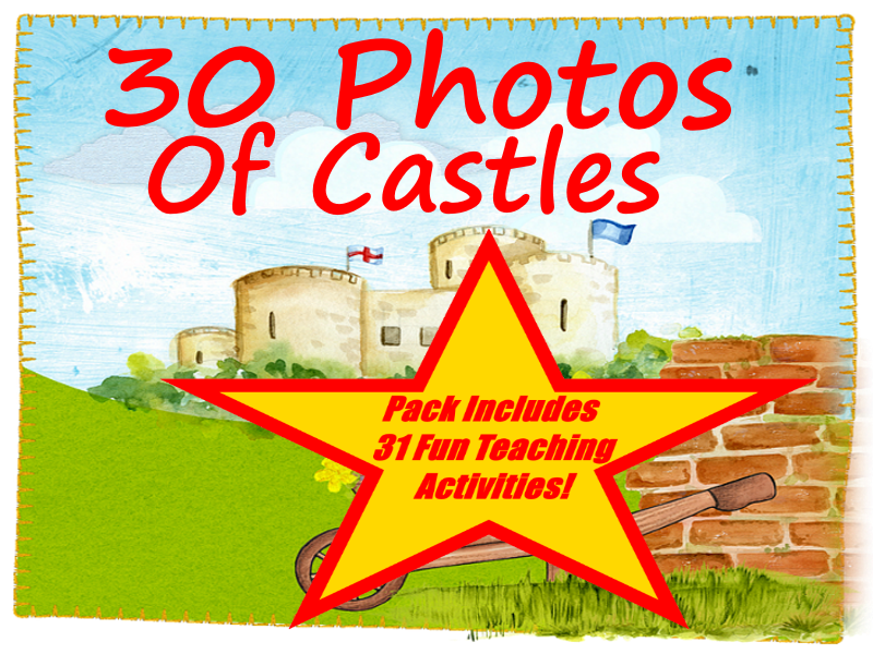 30 Castle Photos PowerPoint Presentation + 31 Fun Teaching Activities For These Cards